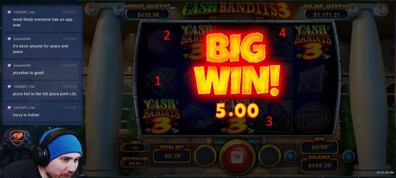 Cash Bandits 4 Scatters