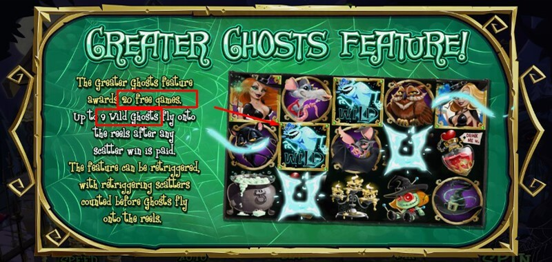 Greater Ghosts Feature in Bubble Bubble 2 slot