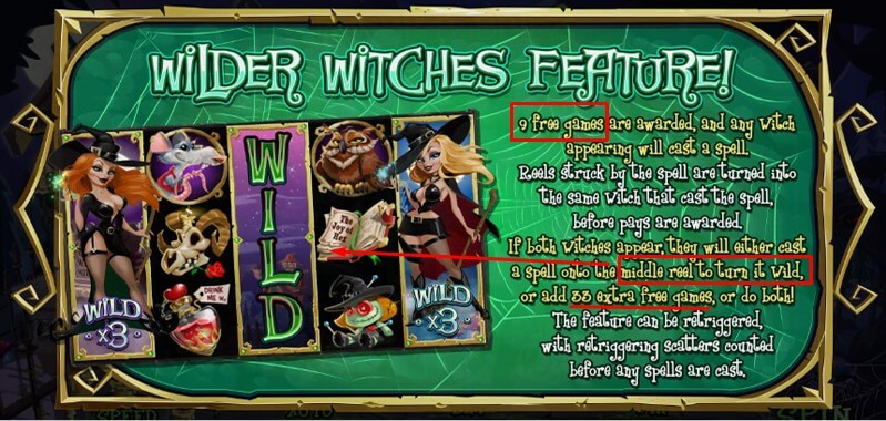 Wilder Witches Feature in Bubble Bubble 2 slot