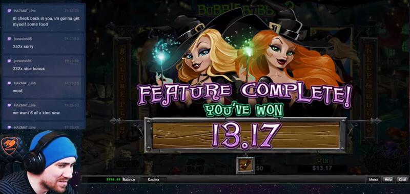 Ultra Betwitch Bonus Total Win in Bubble Bubble 2 slot