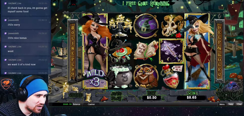 Ultra Betwitch Free Spins Feature in Bubble Bubble 2 slot