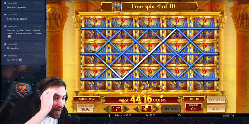 Free Spins Win in Book of Dead slot