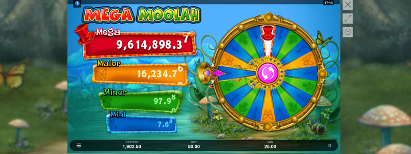 Absolootly Mad™: Mega Moolah Bonus Wheel