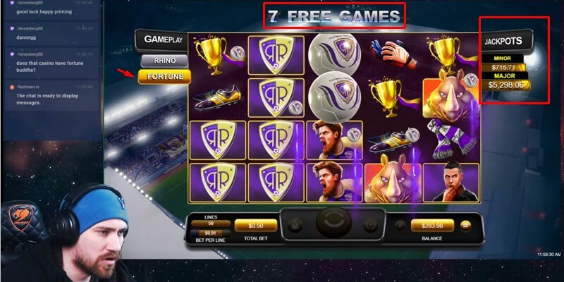 Fortune Mode Free Spins in Football Fortunes slot