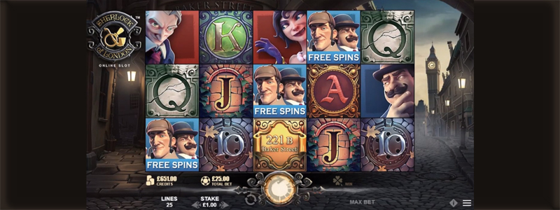 Sherlock of London™ Free Spins