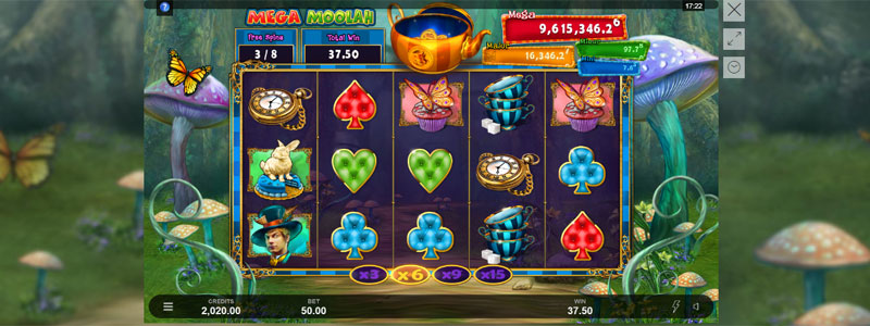 Absolootly Mad™: Mega Moolah Free Spins Multiplier Trail