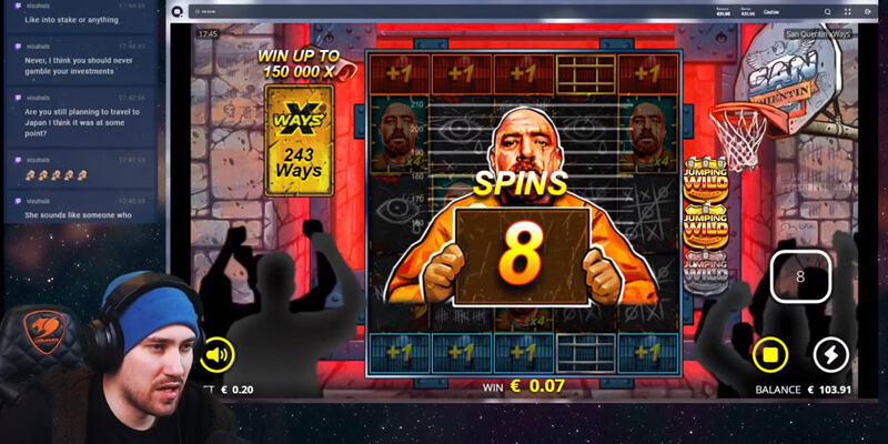 Lockdown Spins Feature in San Quentin slot